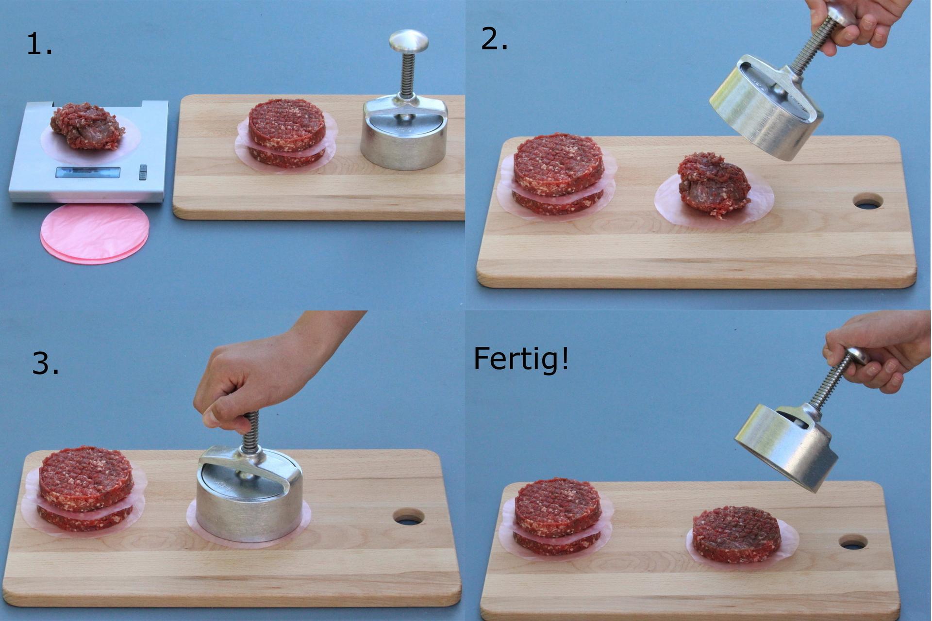 Hoe een hamburger pers gebruiken