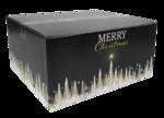 Kerstpakketdoos, Karton, 35x31.5x17cm, Gold