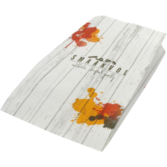 Papieren zakjes 'smaakvol' 14x5x26cm