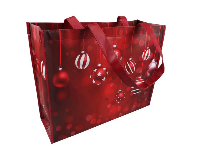 Kerst shopper draagtassen Red 45x16x36cm