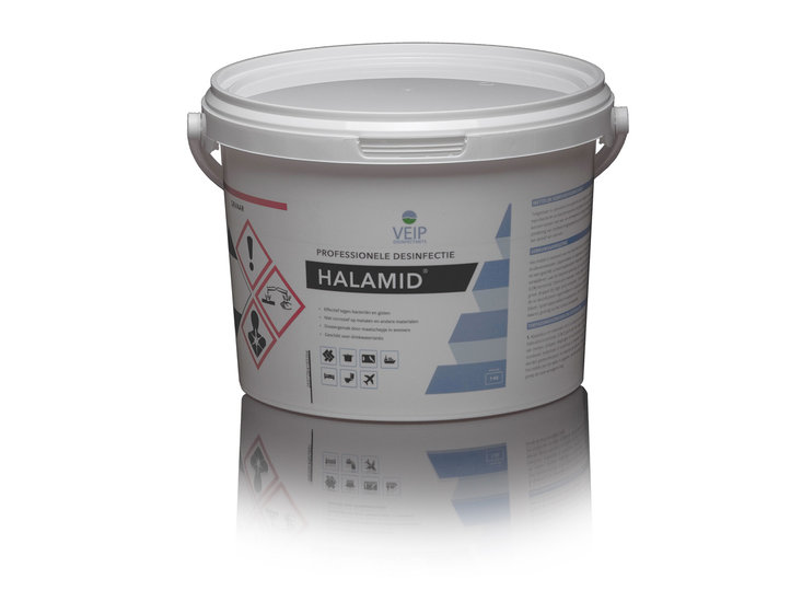 Halamid poeder voor desinfectie