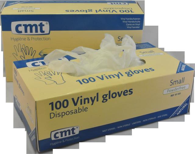 Vinyl wegwerphandschoenen maat L