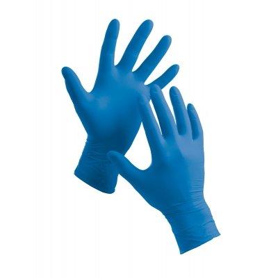 Premium latex wegwerphandschoenen blauw