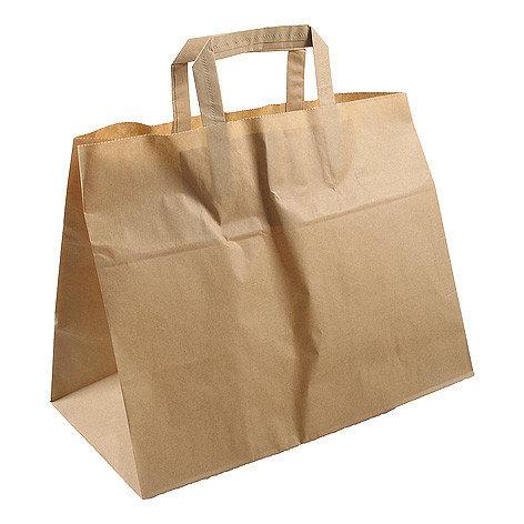 Papieren tassen bruin kraft 22x10x28cm