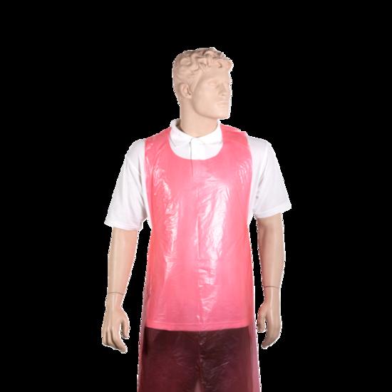 Wegwerp schorten plastic 20mu rood