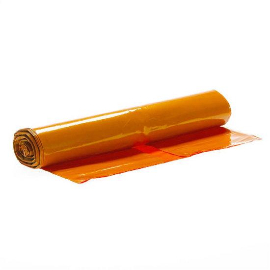 Vuilniszakken oranje 75 liter 58x100cm