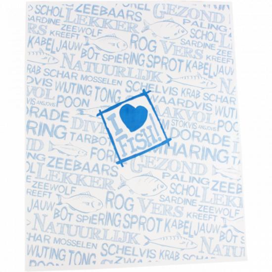 Edelpack vellen 'I love fish' 32x40cm