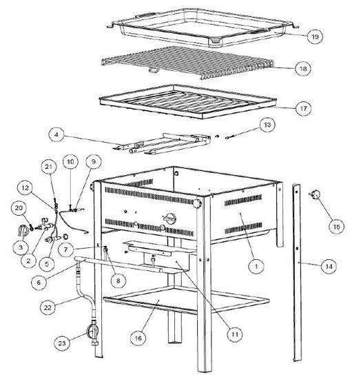 Vlamregelknop Grill System