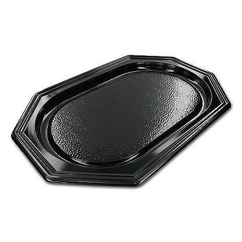 Catering schalen 8-hoekig zwart 25cm