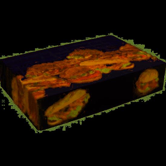 Cateringdozen voor broodjes 250x360x80mm