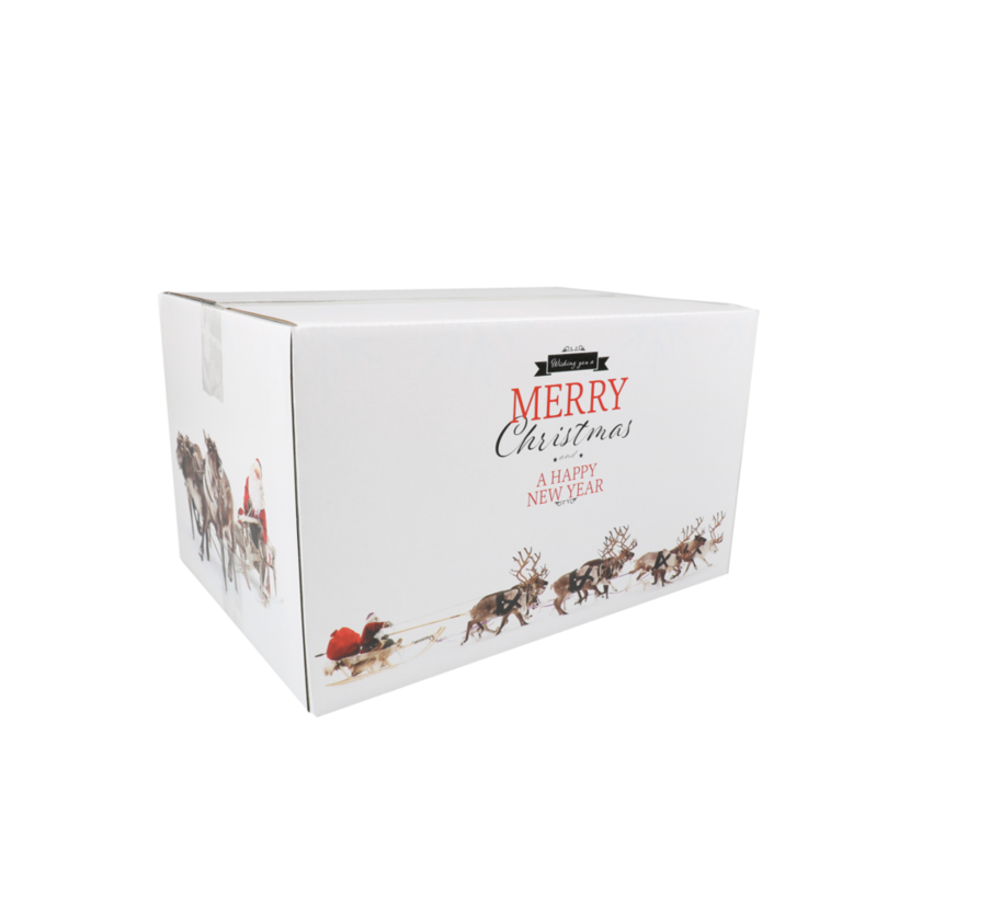Kerstpakketdoos Rudolph D 450x350x230mm