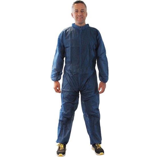 Wegwerp overalls blauw 50 stuks