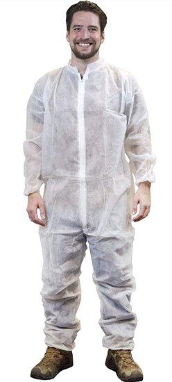 Wegwerp overalls wit 50 stuks