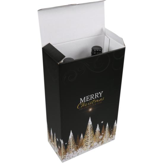 Wijndoos kerst Gold 2 flessen 189x93x327mm