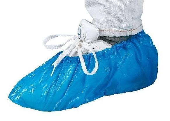 Wegwerp schoen hoezen blauw