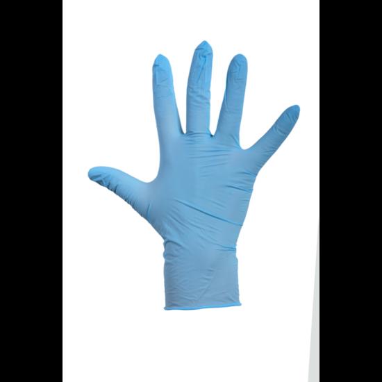 Latex wegwerphandschoenen blauw gepoederd