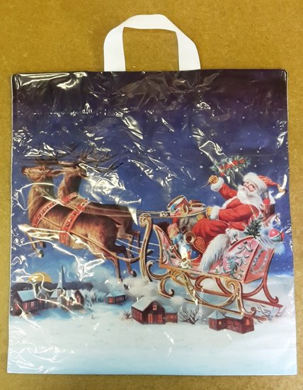 Plastic tassen Kerst 40x44cm