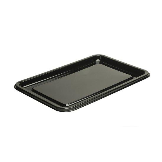 Catering schalen rechthoekig zwart 35cm