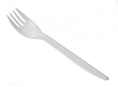 Plastic vorken budget wit
