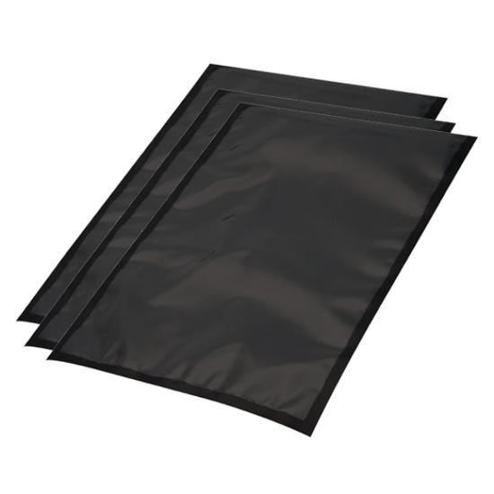 Vacuumzakken zwarte achterkant, buis 150x250mm