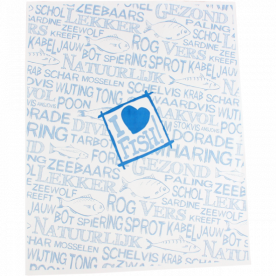 Edelpack vellen 'I love fish' 32x32cm