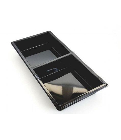 Tapas bakjes 2-vaks zwart 400 stuks