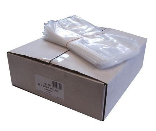 LDPE zakken met zijvouw 10x2.5x24cm