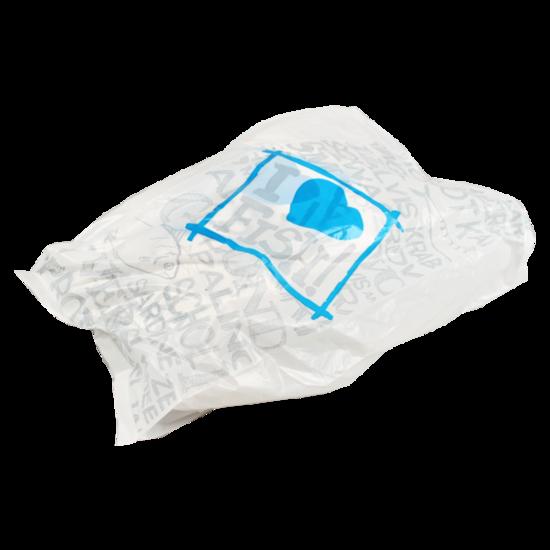 HDPE zakken voor vis 15x5x37cm