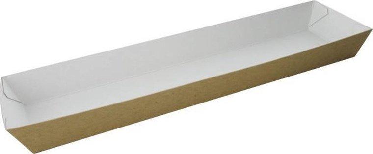 Bakjes karton voor stokbrood en pistoletjes 250x60x25mm