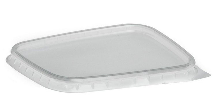 Deksels R-pet voor plastic bakjes 150ml en 250ml