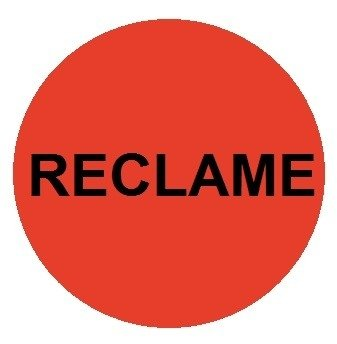 Reclame etiketten fluor-rood rond