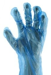 PE wegwerphandschoenen blauw