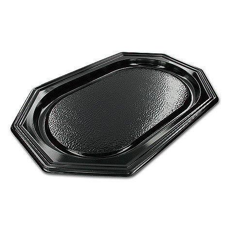 Catering schalen 8-hoekig zwart 35cm