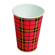Koffiebekers Schotse ruit