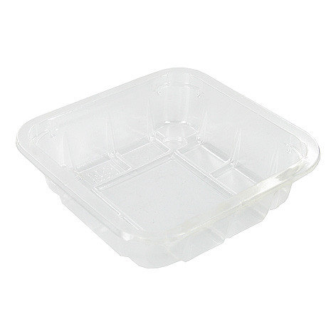 Foodtrays transparant 60 diep 130x130x45mm