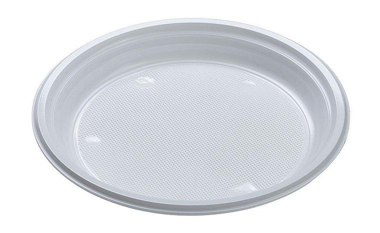 Luxe wegwerp borden 22cm wit (19 gram)