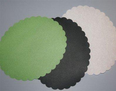 Meatsaver papier ovaal 10x13cm groen