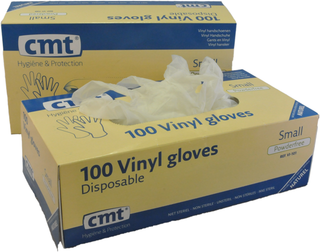 Vinyl wegwerphandschoenen transparant