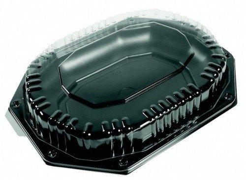 Catering schalen 335/250 zwart met kap