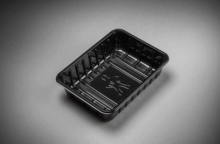 Foodtrays KS70 middel zwart 185x135x35mm
