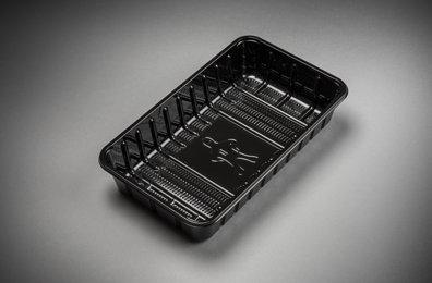 Foodtrays KS73 middel zwart 230x135x35mm