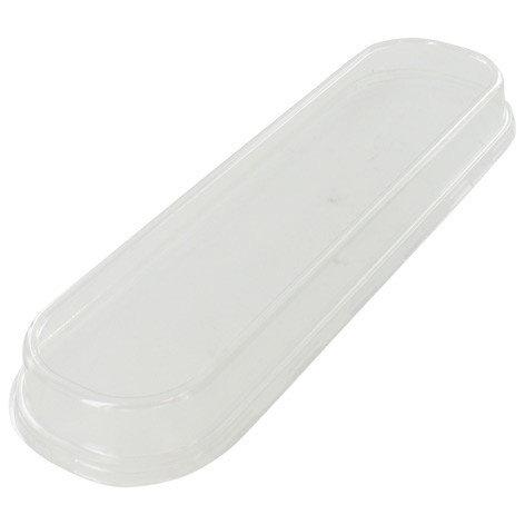 Deksels langwerpige aluminium bakjes 28cm