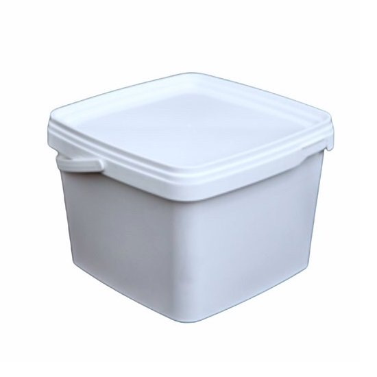 Emmertjes vierkant wit  3,25 liter met lekdichte deksel