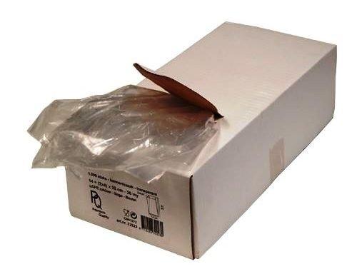 LDPE zakken met zijvouw geponst 16x5x35cm