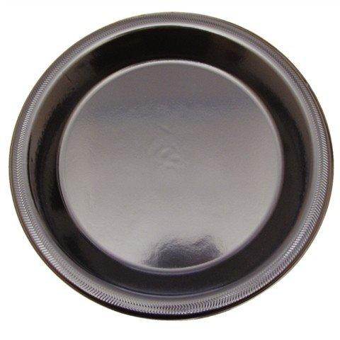 Luxe wegwerp borden 22cm zwart (19 gram)