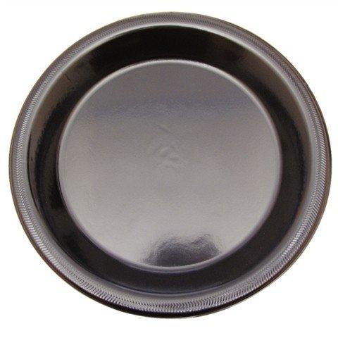 Plastic borden disposable 22cm zwart (13 gram)