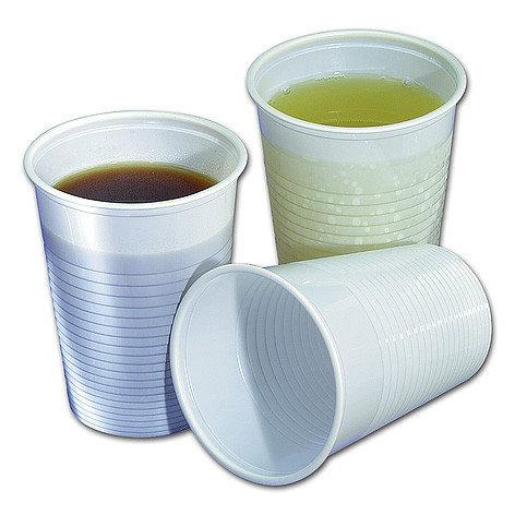 Plastic drinkbekers wit