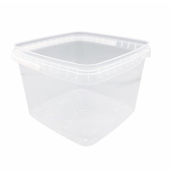 Emmertjes vierkant 3,5 liter met lekdichte TE deksel