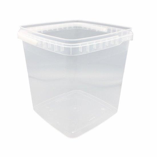 Emmertjes vierkant 5,5 liter met lekdichte TE deksel