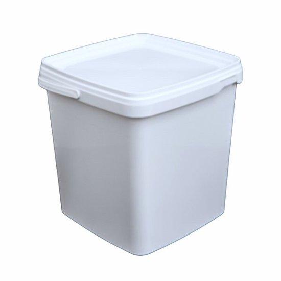Emmertjes vierkant wit 5,5 liter met lekdichte TE deksel